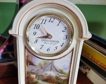 Clock Thomas  Kinkade Painter of light Sweetheart cottage