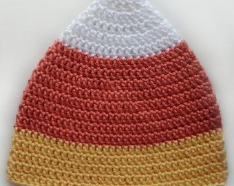 Candy Corn Hat - 5 Sizes - PDF Crochet Pattern - Instant Download