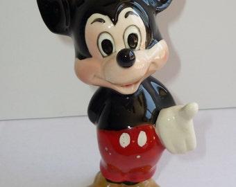 Vintage Mickey Mouse Figurine Walt Disney Productions Mark Japan Ceramic