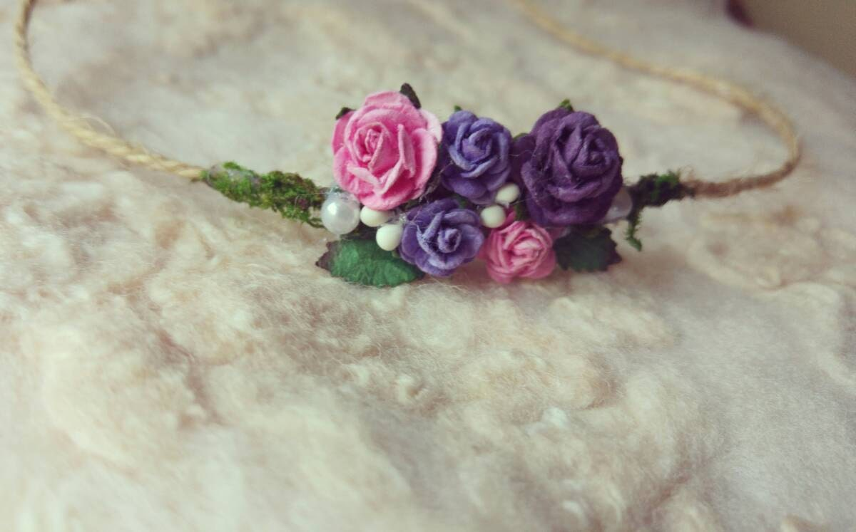 Rose Baby Headband Newborn Photo Prop Baby Girl Headband Newborn