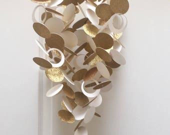 Gold and White Baby Mobile - or choose your own colors / custom mobile / monochrome baby circle dot mobile