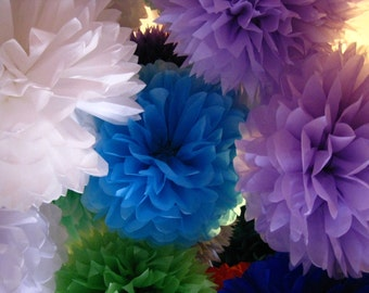 Tissue Paper Pom Poms - Set of 8 - Weddings//Decorations//Receptions//Parties Decor//Nursery