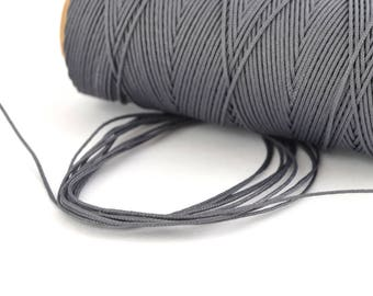Steel grey cord 0.5 mm polyester