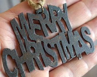MERRY CHRISTMAS Ornament, Rustic Christmas Ornament Christmas Gifts 2018 Christmas Ornaments Christmas Decorations Christmas Gift Bag Tie On
