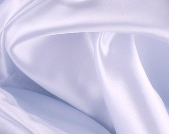 "White Polyester Satin Fabric - 54"" Wide - 2 1/3 Yards (PV-975)"