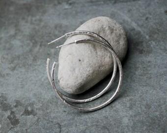 HELLIA minimal hoop earrings - eco sterling silver or brass