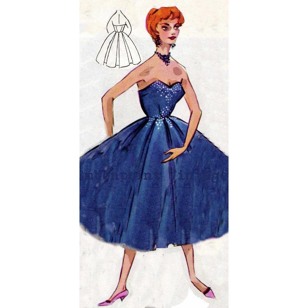 Plus Size Wedding Gown Patterns: Vintage Sewing Pattern 1956 Wedding Dress PDF Plus Size Or