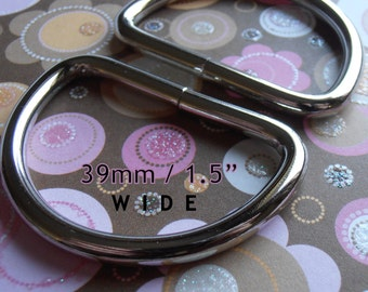 1.5 inch / 39mm Nickel FInish Unwelded D Rings for Bags and Other Sewing Projects - Choose from 240, 600, and 1500 pieces