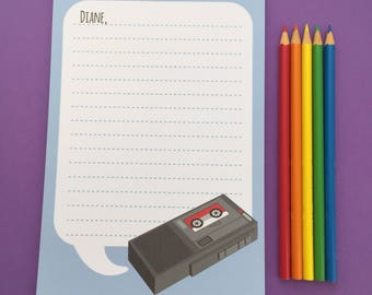 Twin Peaks Diane Notepad - Dale Cooper Dictaphone A5 Notepad