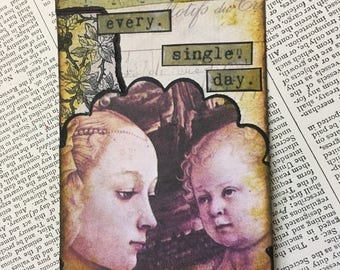 "ACEO ATC one-of-a-kind Original ""every. single. day."" Artist Trading Card"