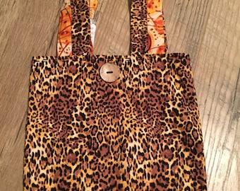 Leopard Print Mini Tote .  REDUCED PRICE!!