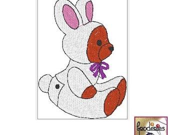 Embroidery file format: teddy bear Bunny