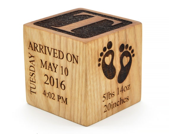 Personalized baby gifts personalized wooden baby block like this item negle Gallery