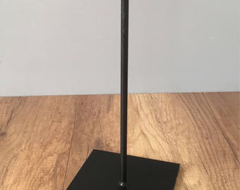 "12"" metal display pedestal stand for tribal art - 5x5 Base"