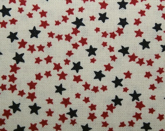 4th of July, Americana, Red White Blue Stars, Fabric, Stars, Quilting Fabric, Sewing Fabric, Cotton Fabric, By The Yard, Patriotic Fabric