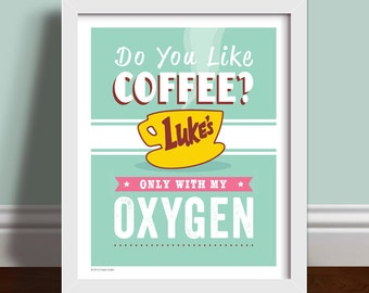 Do You Like Coffee? - Quote Art Print Poster