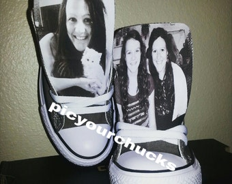 Adult size lowtop custom photo converse