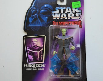 Prince Xizor - Vintage Star Wars Figurine - Sealed on Card 1996 Shadows of the Empire Action Figure