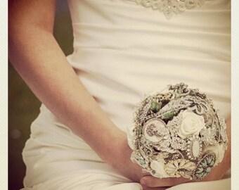Vintage Brooch bouquet - Eclectic Bouquet - Alternative Brooch Bouquet - Wedding Broach Bouquet - Bespoke Wedding Bouquet