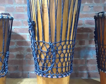 West African / Caribbean Ashiko-style hand-drum with indigenous designs from around the world
