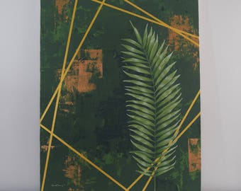 Palm Sunday Painting / Fine Art, Lent Art, Religious Art, Original Painting, Wall Art, Canvas Art, Acrylic