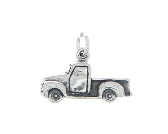 Sterling Silver Pick Up Truck Charm (3d Charm)
