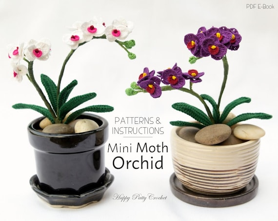Mini crochet orchid pattern crochet flower decoration easy ccuart Gallery