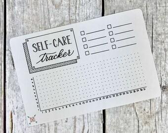 Full Page A5 Self-Care Tracker Sticker