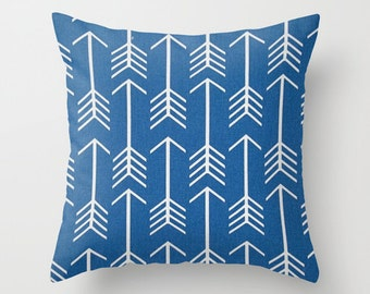 Arrows Pillow Cover Blue Pillow cover Tribal Pillow Accent Pillow Size Choice