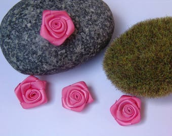 Pink coral color satin - 2.50 cm in diameter