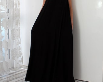 Black maxi dress, Dress with straps, Sleeveless Dress, dress with Pockets, Plus Size Dress, Summer Dress, Plus Size Clothing, Casual dress