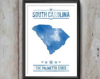SOUTH CAROLINA State Typography Print, Poster, South Carolina Poster, South Carolina Art, South Carolina Gift, South Carolina Decor, Love