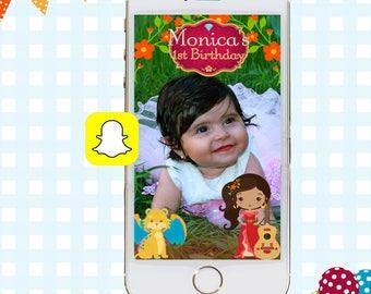 Elena of Avalor Snapchat GeoFilters, Birthday Snapchat Filters, Party Snapchat Filter, Snapchat GeoFilter, Elena of Avalor Birthday Party