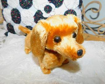Walking, Barking Tail Wagging Vintage Dachshund Dog, Vintage Toy Walking Dog, Vintage toy Dog, Dog, Dachshund Dog :)s*