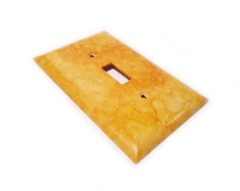 Light Switch cover - decorative handmade switch wallplate in yellow gold