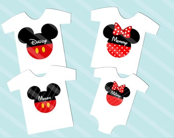 Disney Inspired Family Shirt Images Mickey Head Digital Download for iron-ons, heat transfer, T-Shirt, Totes, Bags,Scrapbooking,  YOU PRINT