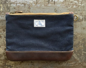 Personal Effects Bag in Cone Denim & Horween Leather