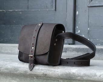 Small leather handbag  LITTLE BLACK MESSENGER