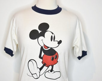 Vintage 1980's MICKEY MOUSE Heather Grey Tank Top / Retro Collectable Rare n9GtWBAp5