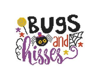Bugs and Hisses Counted Cross Stitch PDF Pattern