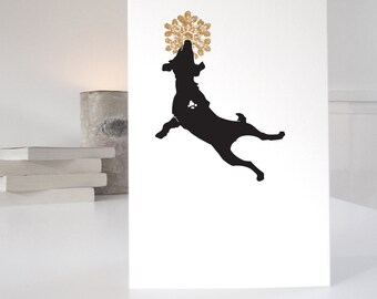 Jack Russell Christmas Card, Dog Christmas card, dog lover christmas card, single or pack of christmas cards
