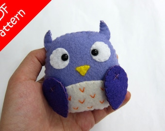 Owl Plush PDF Pattern -Instant Digital Download