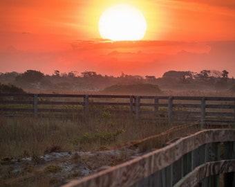 Sunrise at Jones Beach Boardwalk 2