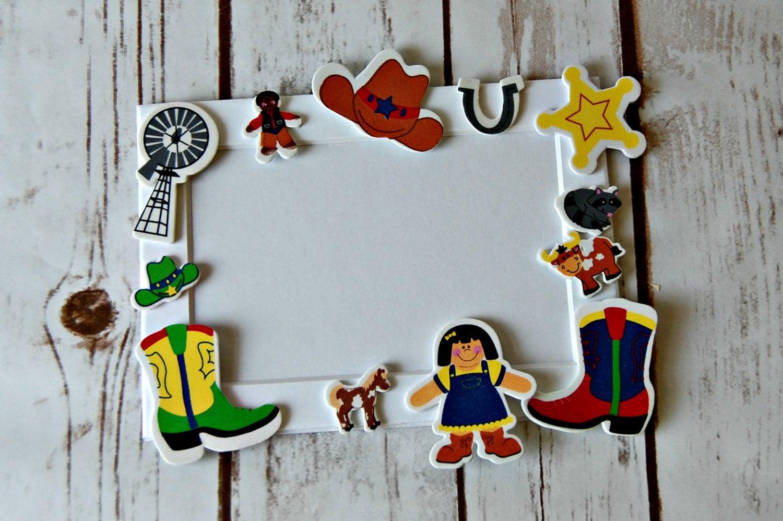 Vaquero temática Craft Kit imán artesanal actividad fiesta