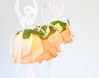 Dancing  Ballerina Lace ornament, hanger,flower,ballet,decoration chandelier,rose,mobile,orange,wedding,
