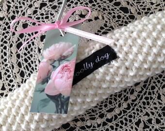 Baby Hangers, Baby Shower, Children's Hanger, Padded Hangers, Pure Cotton, Hand Knitted, Photo Prop, UK Seller