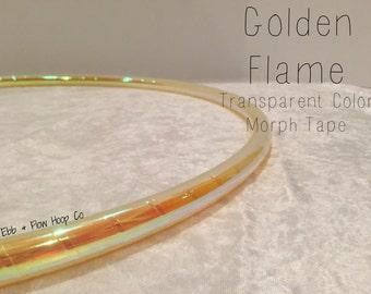 "POLYPRO Golden Flame Transparent Color Morph Hoop  - INCLUDES Clear Protective & Inner Gaffer - 3/4"", 11/16"" or 5/8"""