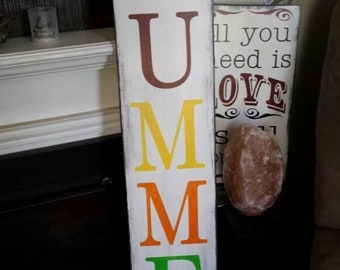 Sweet Summer Time Porch Sign Reversible Distressed Wood Sign Rustic Extra Large Oversized Summer Patio Decor Summertime Primitive Farmhouse