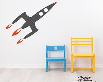 Rocket wall stickers