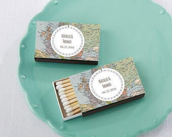 PERSONALIZED World Traveler Themed Themed Matchboxes (50)